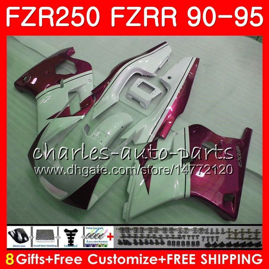 Тело для Ямаха ФЗР 250 FZRR 250р жемчужно-красный из волнистого листового металла 1990 1991 1992 1993 1994 1995 124HM.80 FZR250R Fzr-250 FZR250 90 91 92 93 94 95 обтекатель