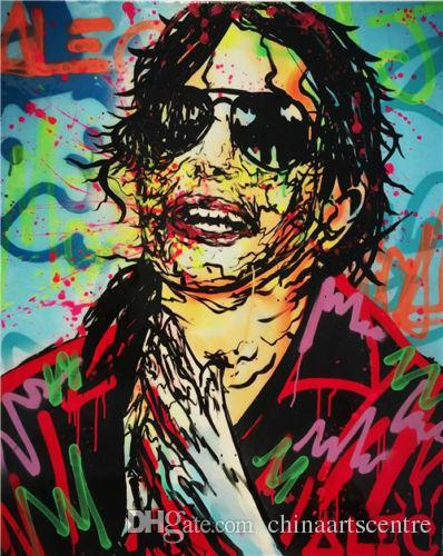 Alec Monopoly Michael High Quality Handpainted & HD Print Abstract Pop Art Oil Painting Jackson On Canvas Wall Art Home Office Deco g131