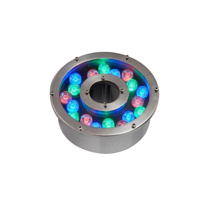 18W LED RGB Unterwasserbeleuchtung für Springbrunnen Pool Lichter DC 12V 24V wasserdichte LED-Leuchten
