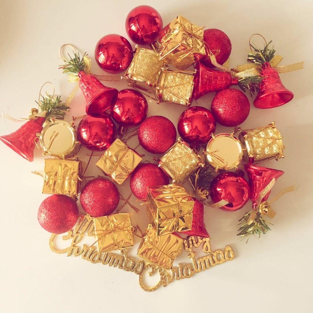 Santa with Golden Tree Christmas Ornament Tree Decoration