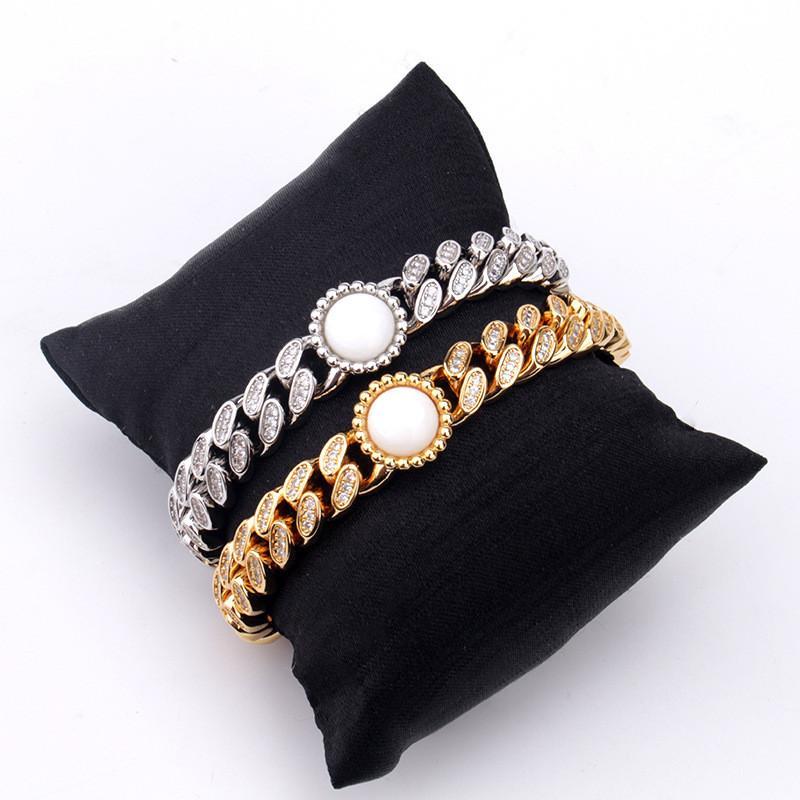 10мм New Trendy Золото Серебро Цвет Ice Out Bling CZ браслет ожерелье Ссылка цепи для Mens ювелирных изделий