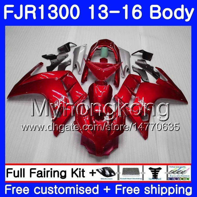 Kit für Yamaha FJR1300 A FJR1300A FJR1300 13 16 247HM.0 FJR-1300A FJR 1300 13 14 15 16 FJR-1300 2013 2014 2015 2016 Verkleidung Top Fabrik rot