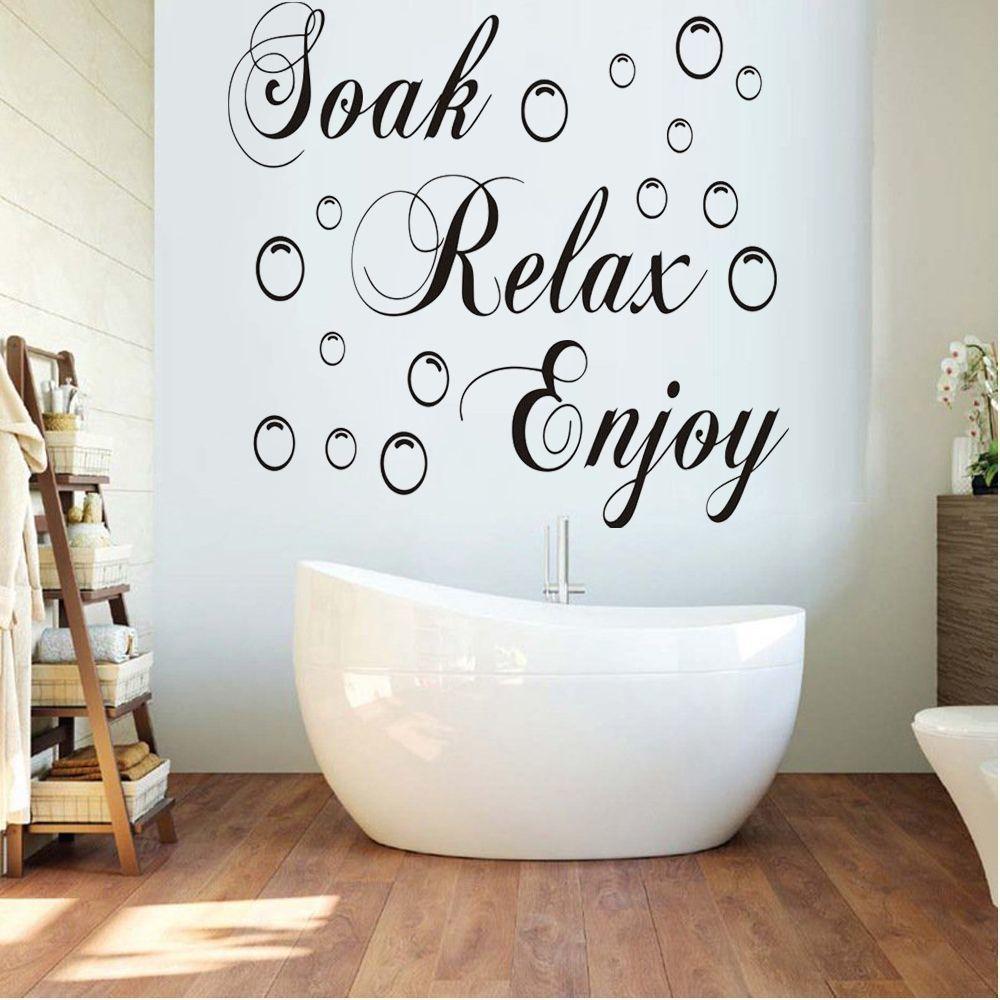 نقع الاسترخاء استمتع ملصقات الحائط حمام فقاعة ملصق للإزالة DIY الفن جدارية حوض الخلفية مغسل ديكور المنزل اللوازم
