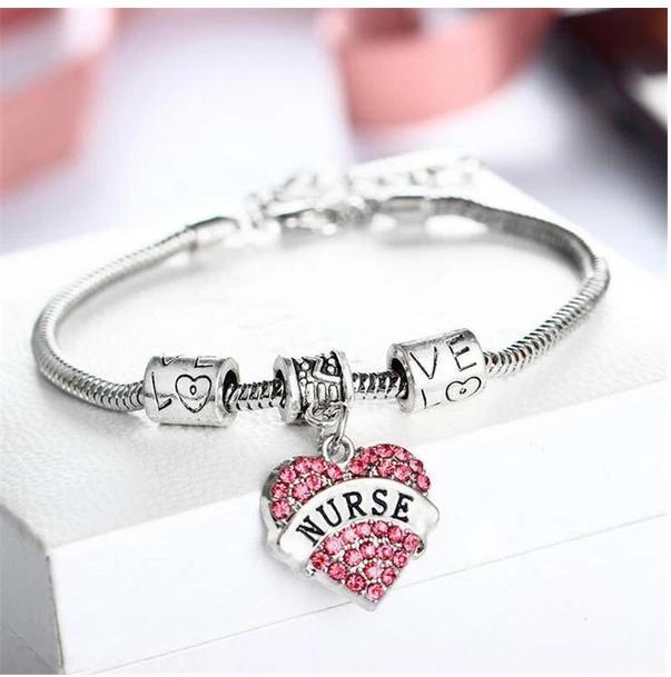 Ylwhjj marca Cor De Cristal Cor De Rosa Pulseira De Colar Para mulheres adoram jóias da moda