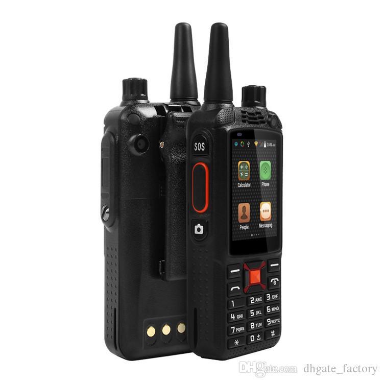 Original F22+/F22 Plus Android Smart outdoor Rugged Phone Walkie Talkie Zello PTT 3G Network intercom Radio Enhanced 3500mAh Battery DHL