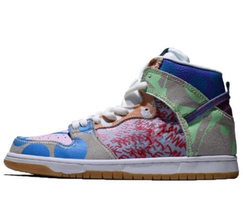 Un zoom SB Dunk High Prem Thomas Campbell diseñador de alta moda zapatos casuales zapatillas de deporte del monopatín deporte Senderos de ejecución de zapatos 233