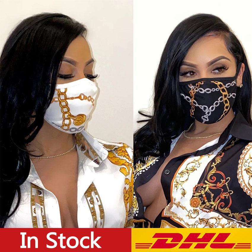 DHL-freies Verschiffen 10PCS Designer-Gesichtsmasken Luxus Mask Respirator Reiten Radfahren Sport Drucke Mode Masken für Männer und Frauen