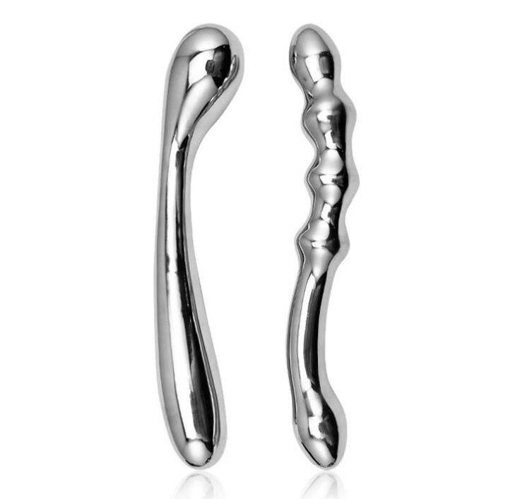 Beads de acero inoxidable Cuatro tope de metal Enchufe anal Bolas vaginales Tapones de adultos Juguetes sexuales
