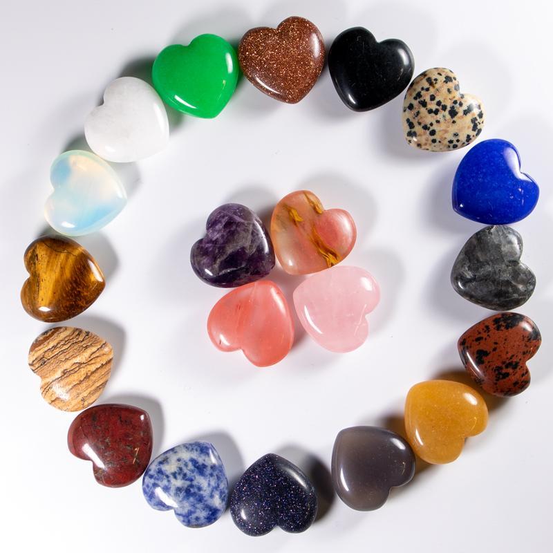 en forma de corazón de la joyería de masaje de piedra de cuarzo natural no porosa DIY que hace más vendido Amor alta calidad de 25 mm mayor del envío