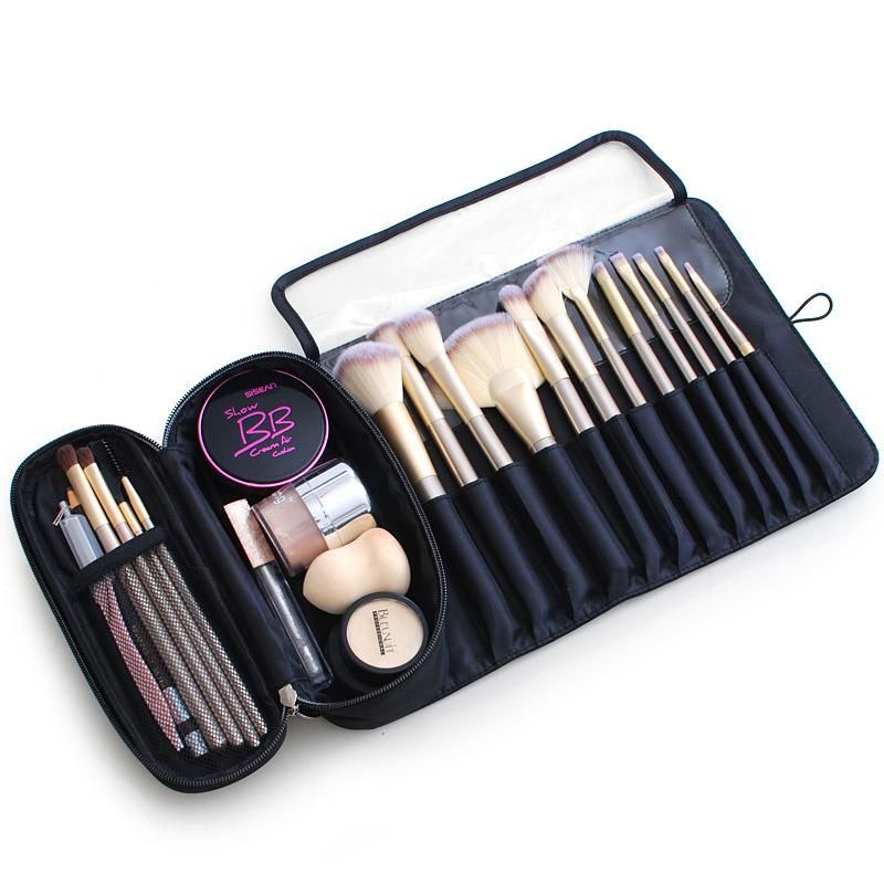 Women Cosmetics Case Makeup Brushes Bag Travel Organizer For Make Up Brushes Protector Coffin Makeup Tools Rolling Pouch