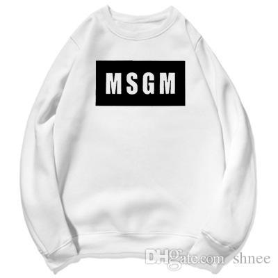 MSGM Baskılı Tasarımcı Tişörtü Womens Streetwear Casual Kapüşonlular Erkek Kafatası Baskılı High Street Kazak Ücretsiz Kargo