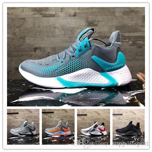 Mejor Nueva AlphaBounce HPC AMS para hombre de los zapatos corrientes de los hombres AlphaBounce instinto Blanco Rojo Negro Reaccionar Diseñador Snerkers Tamaño 40-45