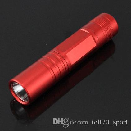 Fashion Mini Flashlighs Aluminum Alloy LED Flashlight Mini Torch Promotional Gift Tactical Waterproof Portable 1xAA Battery For Tents