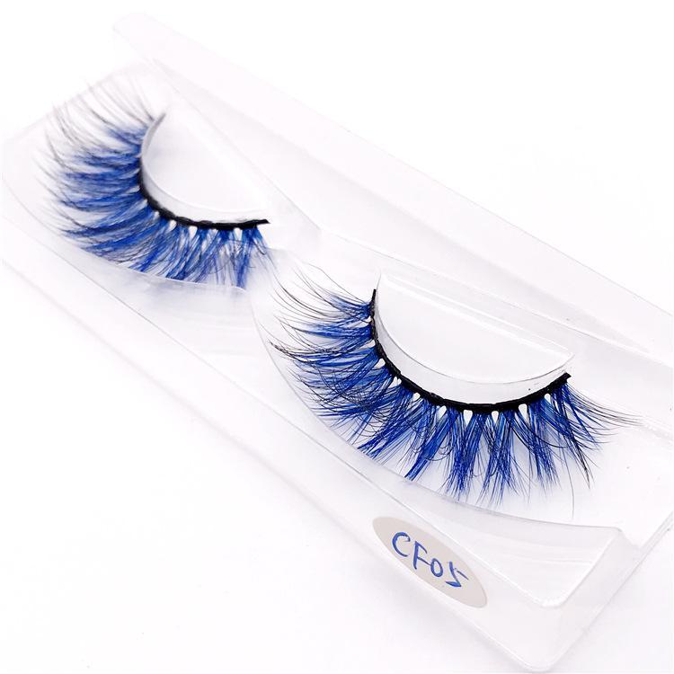 16 5D de style coloré Vison couleur gradient cheveux Faux cils épais vison CHEVEUX faux cils faux cils de Extension naturelle 120 ensembles