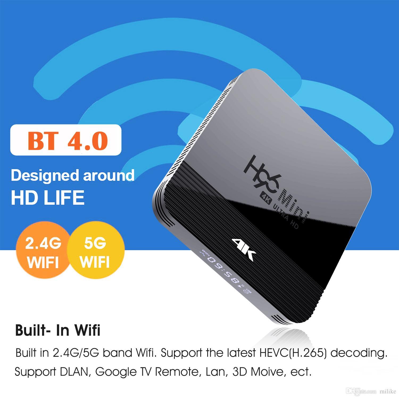 chaud Dual Band Wifi 2.4G + 5G H96 mini-H8 RK3228A Android 9.0 TV Box Bluetooth H96 MAX X96 Mini 2G16G joueur intelligent