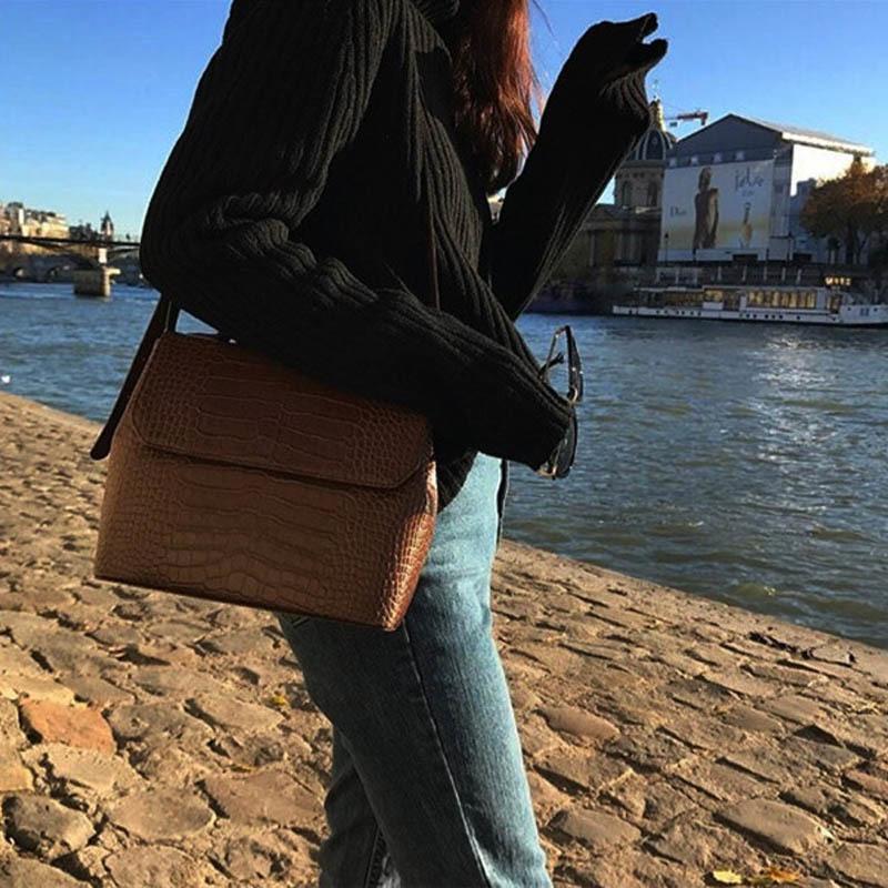 Casual Timsah Çantalar Timsah Desen Messenger Çanta Kadınlar PU Deri Omuz Crossbody Çanta Kadın Cüzdan Sıcak Satış MX200603