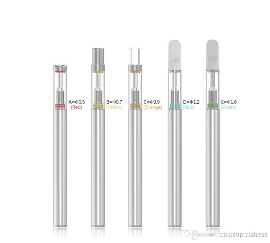 버드 D1S 일회용 Vape 전자 담배 기화기 펜 카트리지 키트 0.5ml의 세라믹 카트리지 세라믹 메탈 마우스 피스 바닥 마이크로 USB