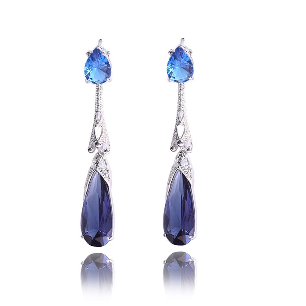 High quality delicate Retro dual colored new and water drop shaped hollow out earrings Wedding & social & gift