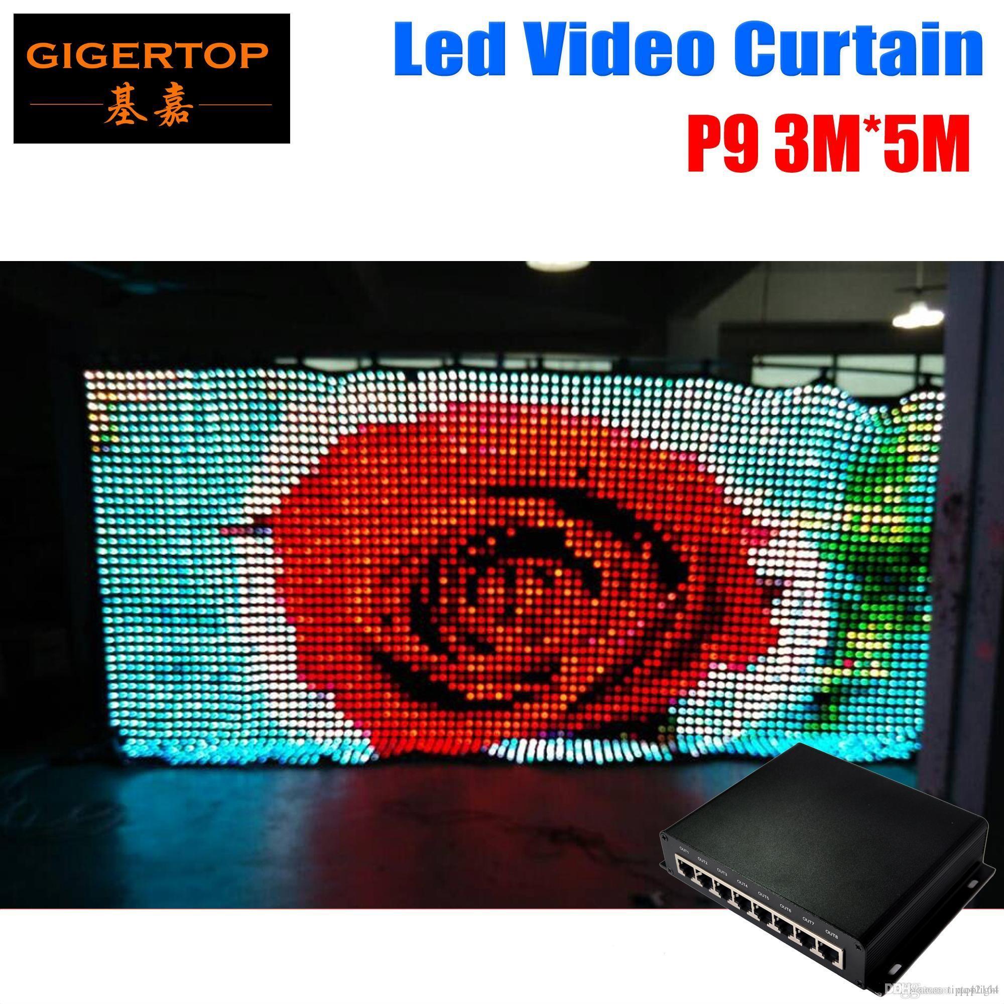 P9 3M * LED 5M Vison Tenda con / SD modalità PC, video Curtain Tricolore 3in1 LED per DJ matrimonio Fondali 90V-240V