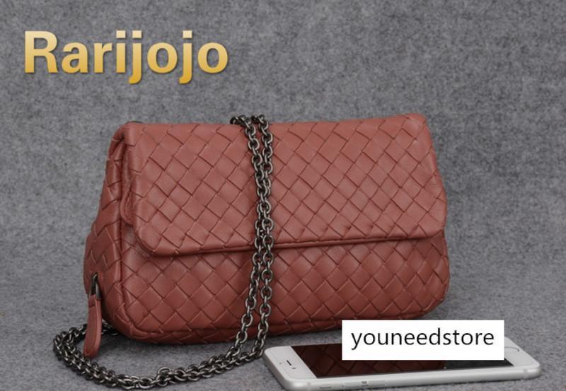Марка Crossbody сумки овчины ручной работы сплетенный женщин сумка сумки конструктора высокого качества цепи Сумка