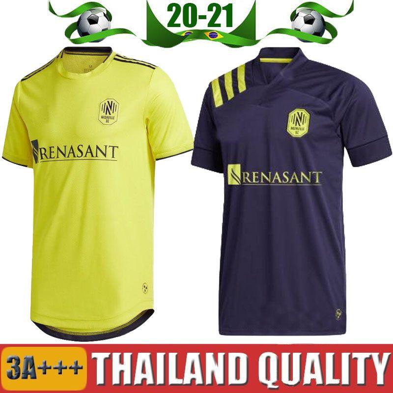 크기 S-XXL 2020 내쉬빌 SC 축구 유니폼 2021 창립 MLS LEAL 20 21 다니엘 로비츠 도미니크 지목 무크 타르 홈 멀리 축구 셔츠