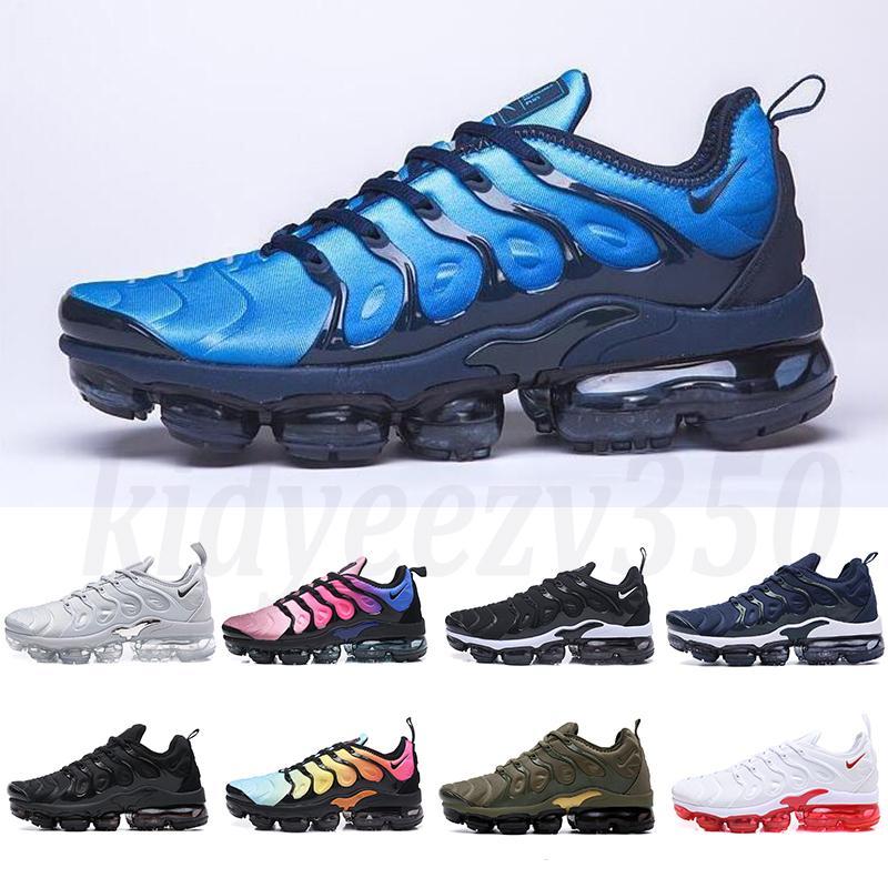 Nike Air Vapormax plus TN 2019 Nova TN Além disso Olive Branco Prata Sapatos Shoes por Homem Shoe Black Pack Triplo calçados casuais 36-45 frete grátis A55