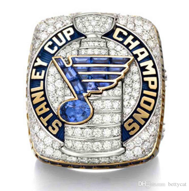 Newest Men fashion jewelry 2019 Blues championship ring sports fans collection souvenirs Christmas gift