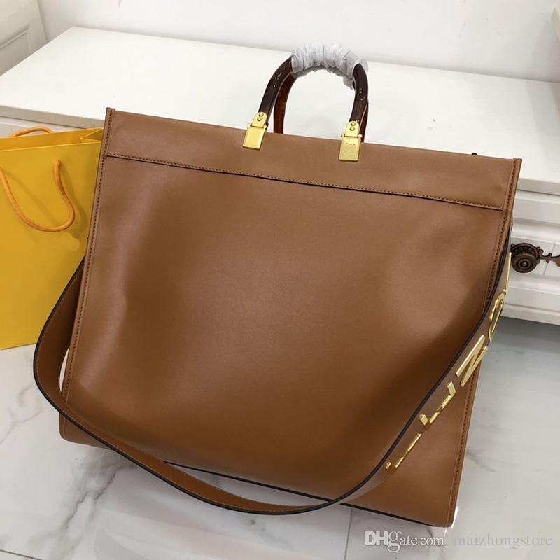 borse del progettista donne del cuoio genuino FF moda totes grande capacità di designer borse totes di modo borsa borsa di lusso
