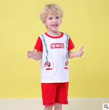 Kids Designer Clothes Boys Clothing Set 2019 Summer Short Sleeve Cotton Cartoon Pirate T Shirt Tops+ Shorts Pants Boys 2pcs Clothing Set