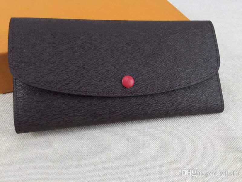 L153 designer carteira de luxo carteira designer de luxo bolsas titular do cartão bolsa das mulheres carteira de couro genuíno senhora senhoras bolsa longa