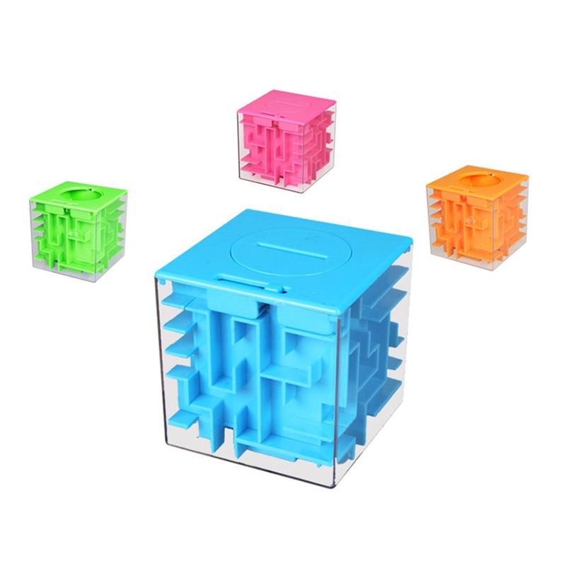 Puzzle 3d Maze,piggy bank Toy Kids Game Educational,3d Magic Intellect Maze Puzzle,Labyrinth Ball Toys Y200414