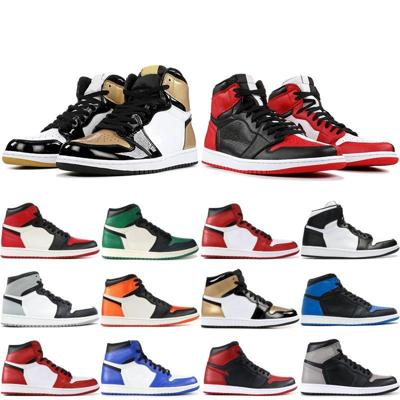 Erkekler 1 OG Erkek Basketbol Ayakkabı Chicago Siyah Beyaz Çam Yeşil hürmet etmek Home En Paris Men stilisti Sneakers Boyutu 7-13 1s