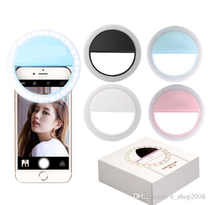 Hersteller, der LED-Blitzschönheitsfülle selfie Lampe im Freien selfie Ringlicht auflädt, das für alles Handy aufladbar ist