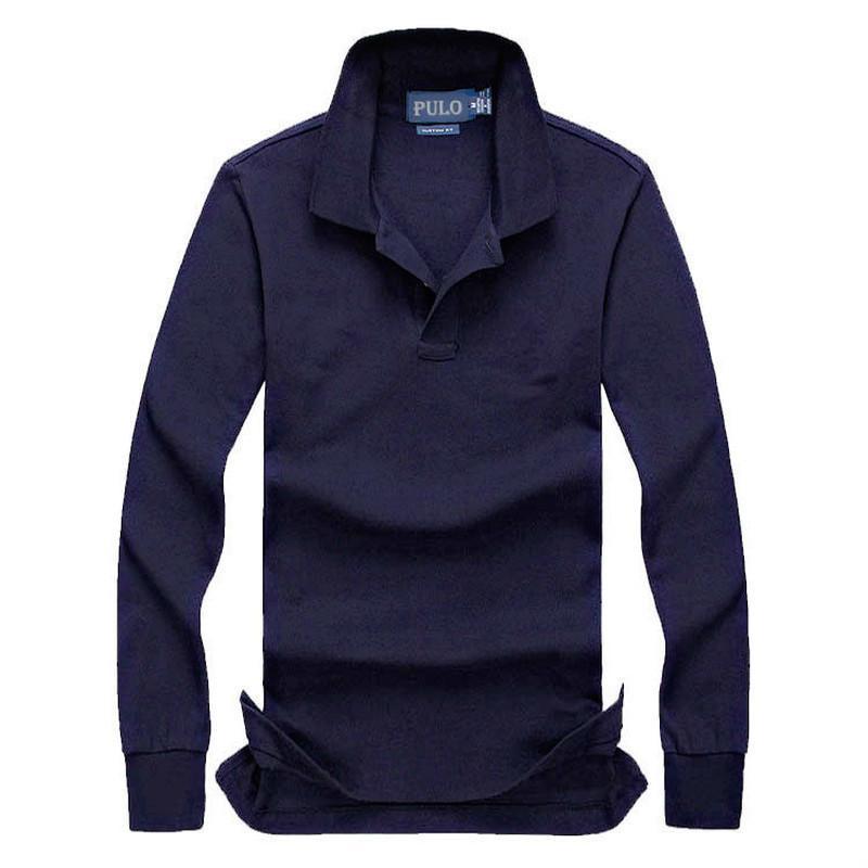 망 디자이너 새로운 큰 말 가을 긴 소매 티셔츠 남성 폴로 셔츠 95 % 코튼 소재 긴 소매 티 - 셔츠 폴로스