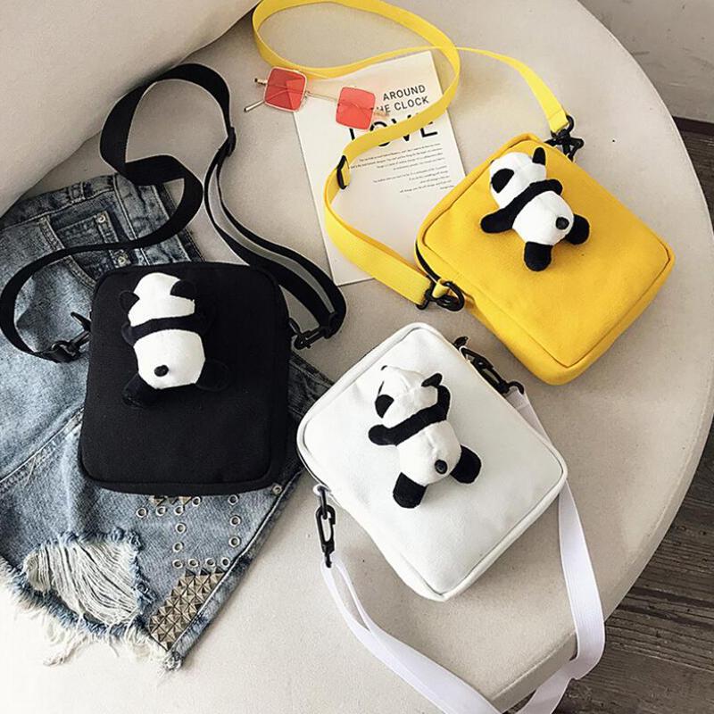 Poupée mignonne Panda Sacs Messenger Femmes épaule Sac Organisateur Voyage Sac à rabat Femmes sacs à main Poupées
