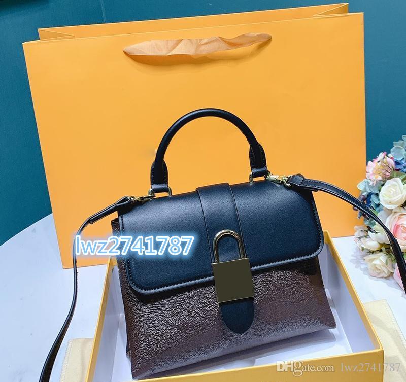 Fashion Femmes Sangle Dernier sac sac qualité cuir avec sac à main à l'épaule Messenger à l'intérieur du vrai numéro de série Uttaj SPGIM