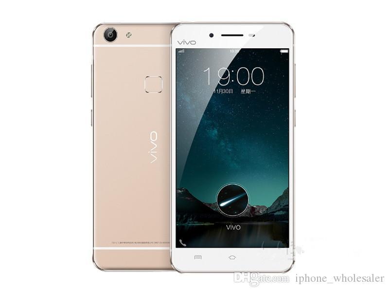 Orijinal Vivo X6S 4G LTE Mobil Telefon 4GB RAM 64GB ROM Snapdragon 615 Octa Çekirdek Android 5.2 inç 13.0MP OTA Parmak İzi Kimlik Akıllı Cep Telefonu