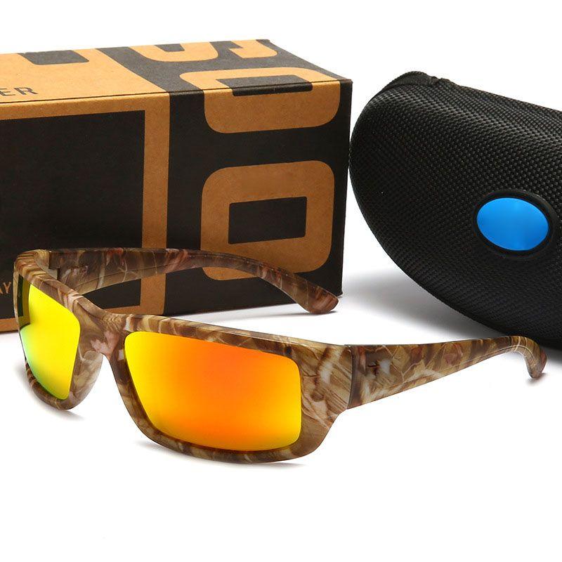 Realtree Camo Brand Designer Sunglasses Man Women Cycling Glasses Classic Designer Eyeglasses 580P Fishing Sunshades Riding Beach Glasses