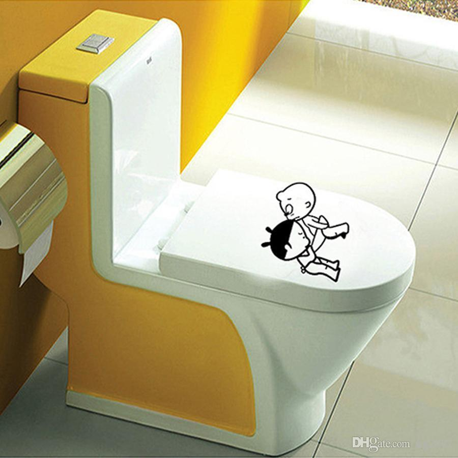 Diy Toilet bathroom stickers wall sticker for kids rooms home decor creative home decoration accessories posters wall decal LF-069