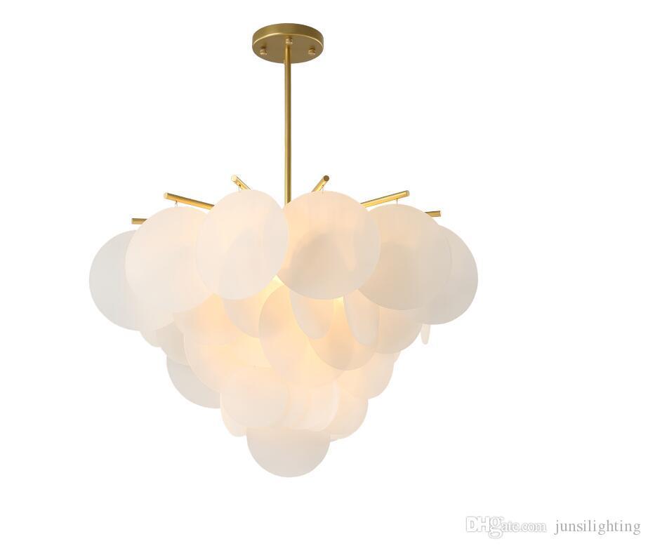 Post Modern Led Pendant Light Plate Gold metal Glass Leaves Suspension Lamp Indoor Fixutres Lighting Foyer Lustre Luminarie Lamp
