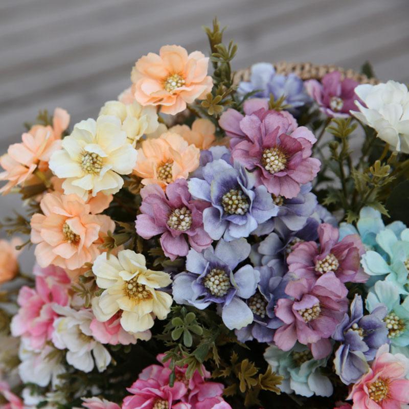 искусственные цветы из шелка цветы ромашки букет украшение дома украшение цветок стены свадьба спальни гостиной