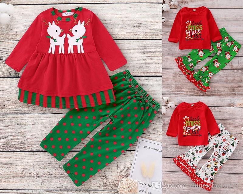 Festive Elk Christmas Baby /& Toddler Long Sleeve T-Shirt 2T, White
