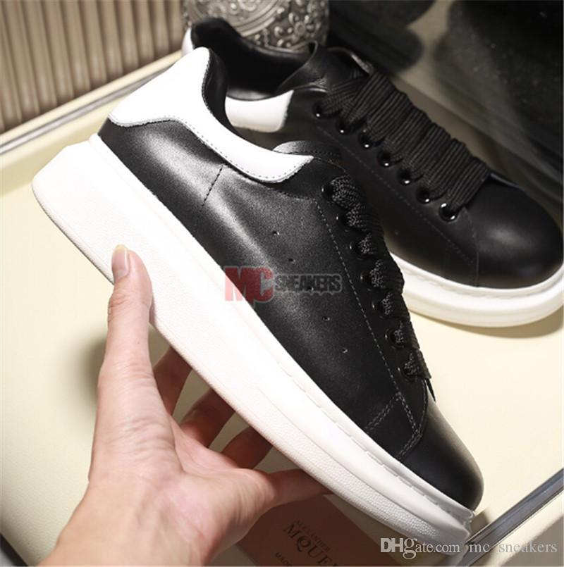 Negro 2019 de terciopelo para mujer para hombre Zapatos de zapatos Hermosa Plataforma zapatillas de deporte casuales cuero de zapatos del vestido de los colores sólidos de tamaño de los zapatos 36-45