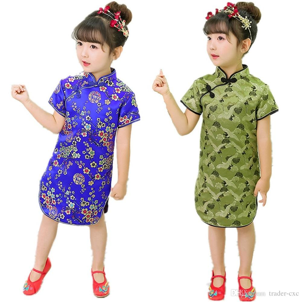 6M-3T,Baby Girls Princess Dresses Chinese New Year Flower Long Sleeve Dress Hot