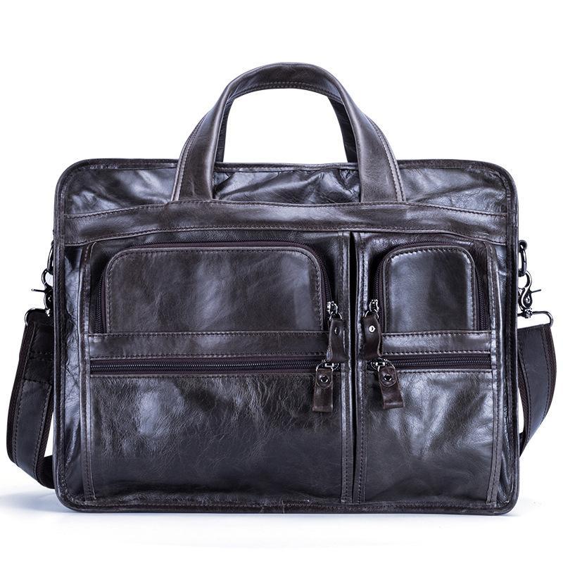 Rosa Sugao Mens Schulterbeutel-Aktenkoffer Geschäfts-Beutel echtes Leder Herren Messenger Bag tote Männer Umhängetasche Umhängetasche Tasche für Arbeit