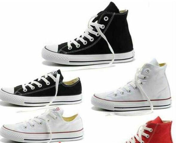 NEW size35-45 Neue Unisex Low-Top Hoch-Spitze Erwachsener Frauen Männer Stern Canvas Schuhe 13 Farben geschnürtes oben beiläufige Schuh-Turnschuh-Schuhe