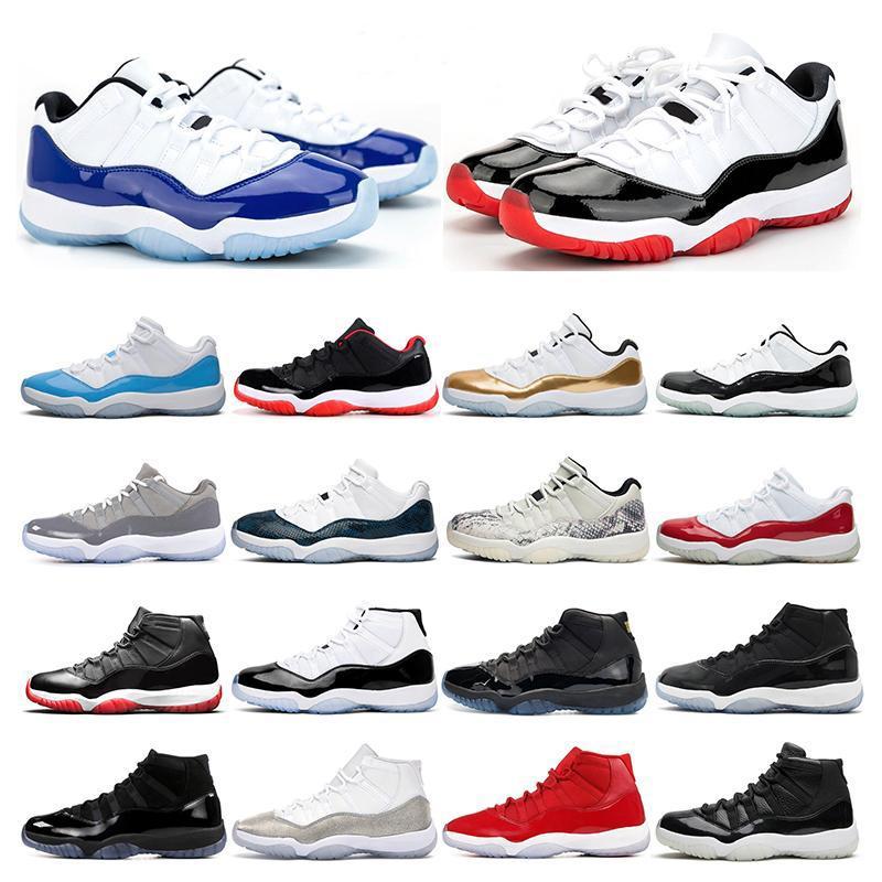 air retro jordan 11 Nuovo Bred Snakeskin METALLICO ARGENTO Concord 45 23 GAMMA BLU 11 sport delle donne della scarpa da tennis formatori Dimensioni 5,5-13