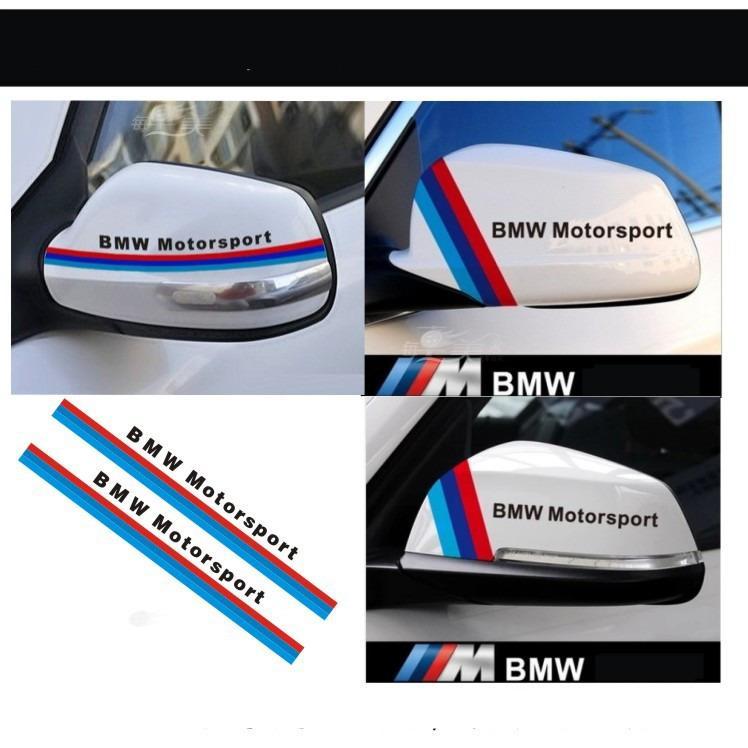Adesivi a strisce tricolori inglesi per BMW M X 1 X5 X6 7 320 Car Styling M Performance Car Rear View Mirror Mirror Sticker