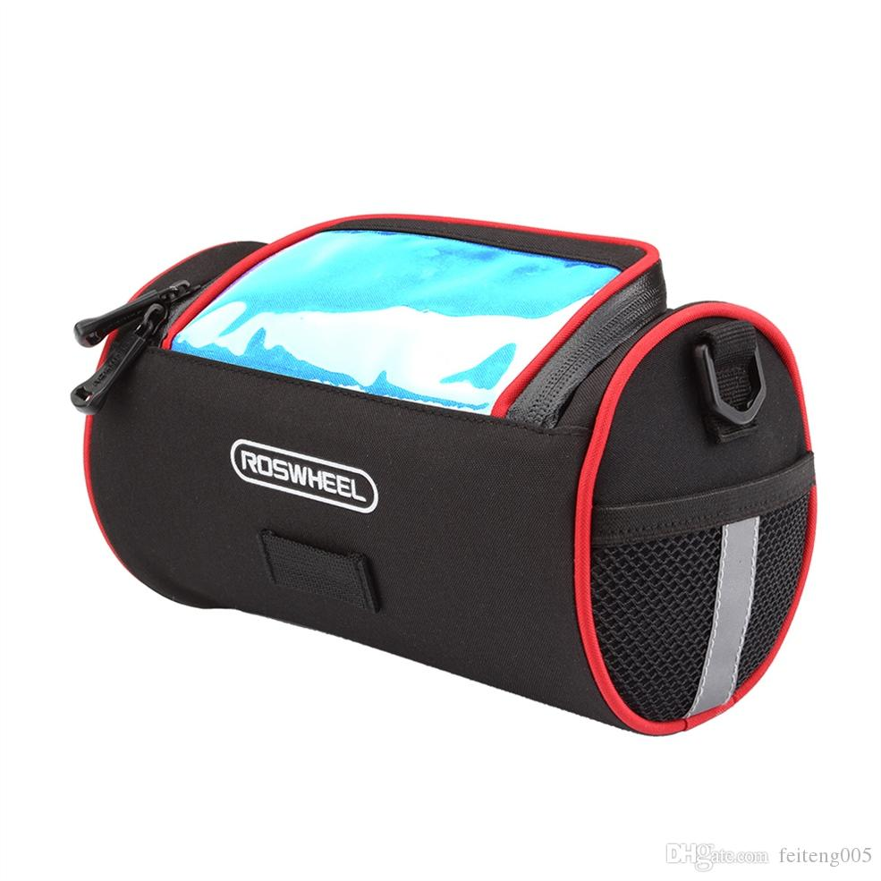 ROSWHEEL Cycling Bicycle Folding Bike Front Handlebar Bag Basket Transparent PVC Pouch for Map Outdoor #148551