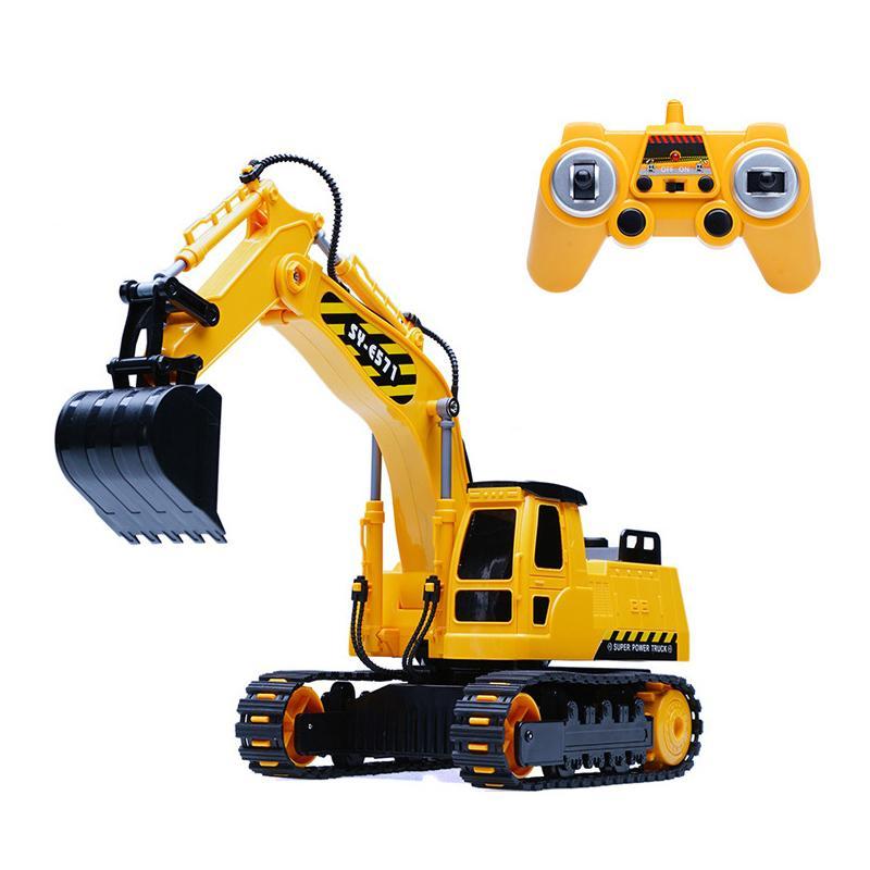 Engenharia de simulação automóvel escavador RC Brinquedos Crianças crianças aniversários do Natal presentes RC Engenharia veículos série camiões inquinados Y200413